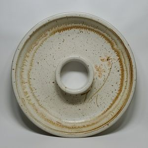 Hand Thrown Pottery Large Cracker Plate